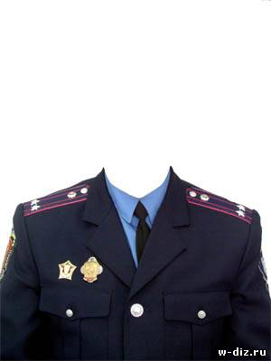 Шаблон для фото - настоящий полковник